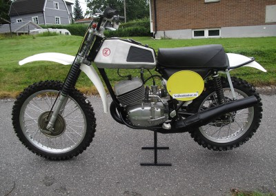 1973 CZ 380cc Type 981 Down Pipe Aluminium Tank