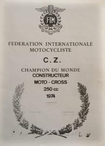 1974 World Champion Constructor 250cc