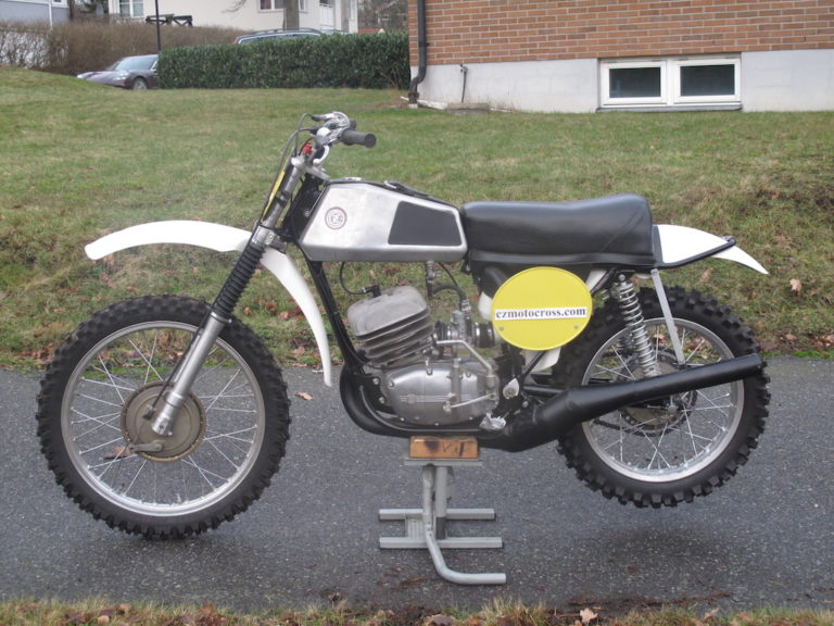 1973 CZ 420cc Type 981 Down Pipe Aluminium Tank