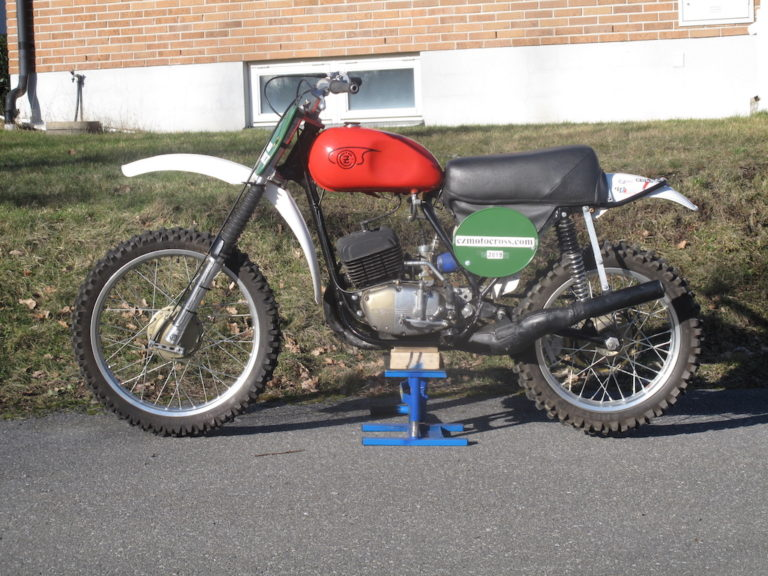 "1973 CZ 250cc ""Fabriks cykel"""