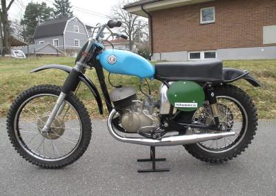 1964 CZ 250cc Type 968 Twin Pipe Magnesium Engine